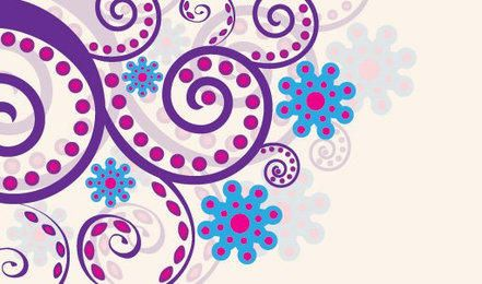 Spiral Colorful Swirling Floral Decoration