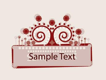 Abstract Ornamented Frame Banner