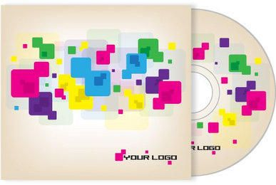 Colorful Cubes CD Cover Design