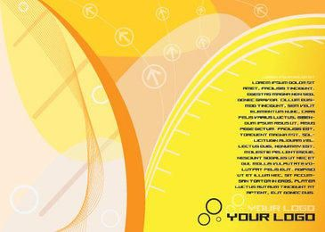 Yellowish Waves Flyer Design