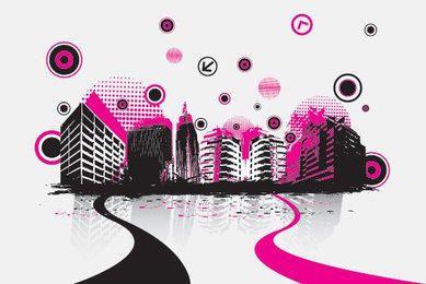 Trilha sonora musical paisagem urbana