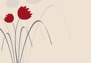 Design floral elegante mínimo