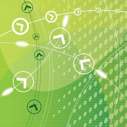 Flecha cuadrícula verde fondo futurista