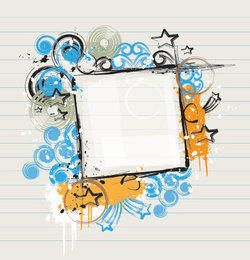 Abstract Grungy Frame Paper Banner