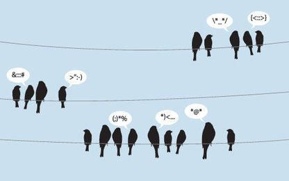 Birds Tweeting on Wire Lines