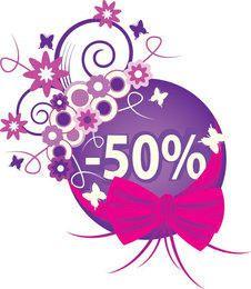 Banner promocional de venda Floral abstrato