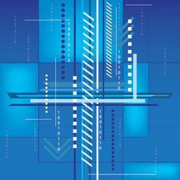 Fundo Tecnológico Azul Abstrato