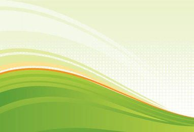 Green Waves Fresh Background