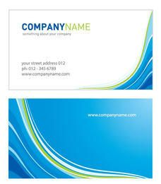 Two Parts Waves Business Card