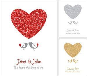Funky Wedding Card Template