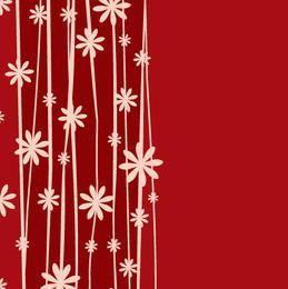 Fundo Floral Planta Minimal Vermelho