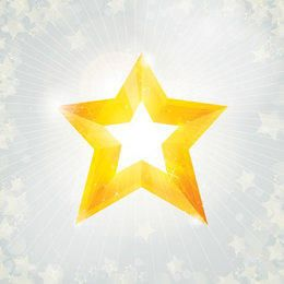 Yellow Star Bright Christmas Background
