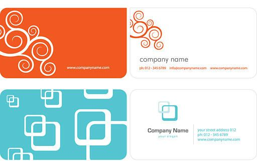 Swirls squares simple business card vector download swirls squares simple business card download large image reheart Choice Image