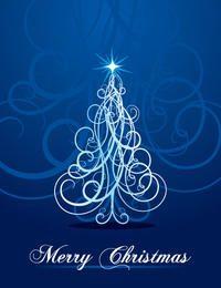 Fondo del árbol de navidad que remolina