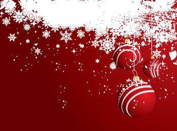 Tarjeta de Navidad de los copos de nieve de las chucherías colgantes