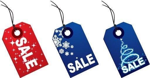 Colorful Christmas Sale Tags