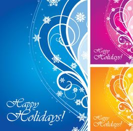 Swirling Happy Holidays Card