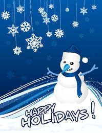 Snowman Christmas Greeting Card