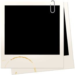 Paperclip Tapped Polaroid Frames