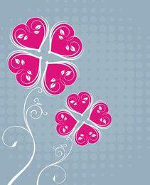 Funky Floral Halftones Card