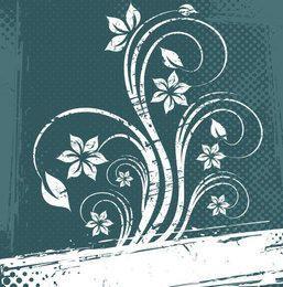 Fondo de semitono floral blanco sucio