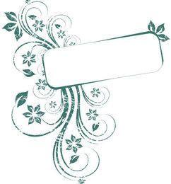 Banner de quadro de sujeira verde sujo