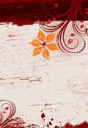 Floral Grungy Message Background