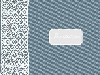 Retro Invitation with Lace Decoration