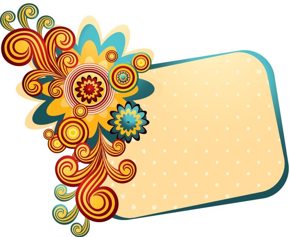 Colorful Swirling Frame Summer Banner - Vector download