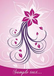 Pink Swirling Floral Card