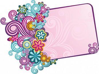 Vintage Colorful Swirling Frame Banner