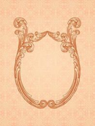 Ornamental Mirror Frame Retro Background