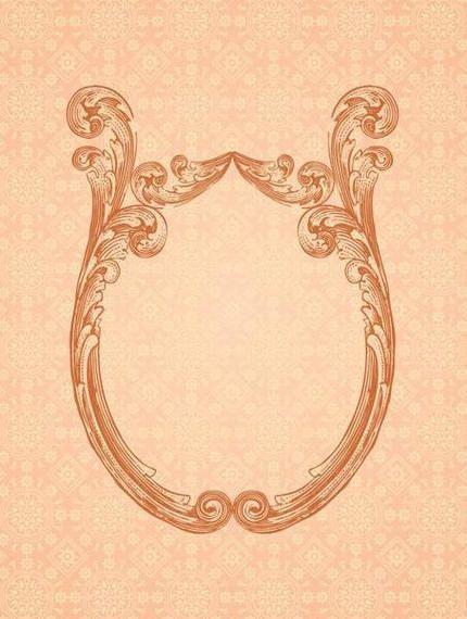 Marco Espejo ornamental Fondo Retro - Descargar vector