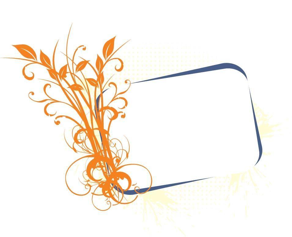 El cultivo de plantas florales bandera del marco - Descargar vector