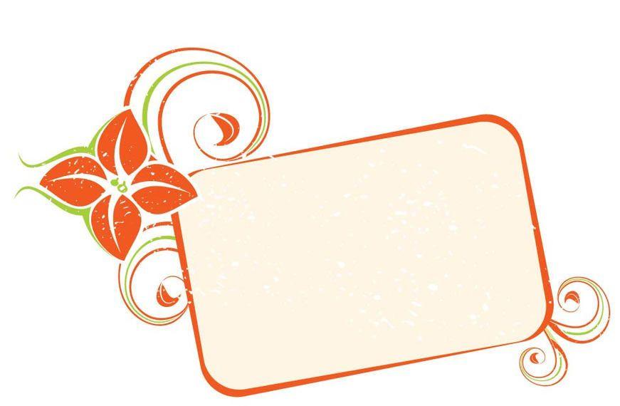 Naranja remolina bandera del marco - Descargar vector