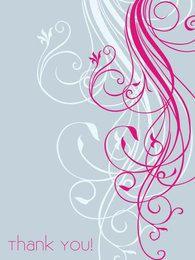 Minimal Swirls Thank You Card