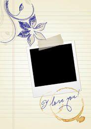 Polaroid Doodle Love Memories