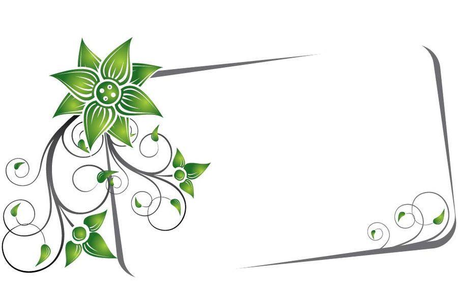 Remolina verde bandera del marco - Descargar vector