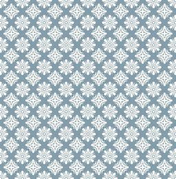 White Ornamented Seamless Pattern