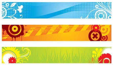 Conjunto de banner colorido abstracto