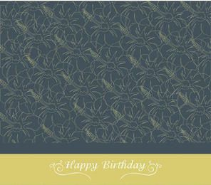 Floral Texture Birthday Card