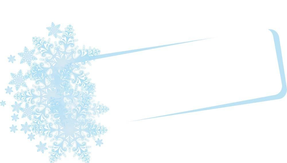 Copos de nieve floral bandera del marco - Descargar vector