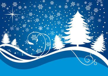 Snowing Waves Christmas Background