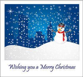 Cartão nevado do Natal