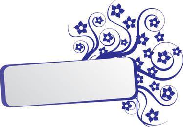 Swirling Frame Blue Rectangle Banner