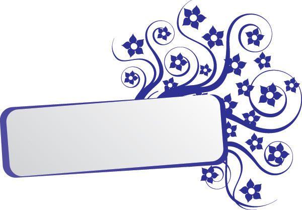 Banner de retângulo azul de quadro de roda