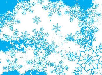 Frozen Abstract Snowflakes Background