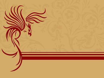 Cartão floral de aumentação de Phoenix