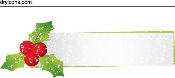 Glittery Mistletoe Christmas Header