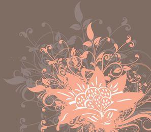 Fondo de ramo de flores grungy